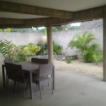 our rear or garden courtyard on the opposite side of the villa