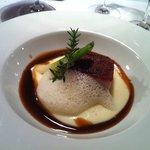 48 h Schweinebauch-Nussbutterschaum-Kartoffelschaum