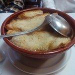 La sopa de pan del cocido