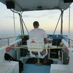 Dan McSweeney driving the boat
