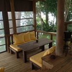 Villa outdoor dining area