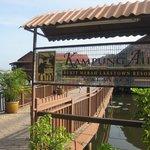 Hotel entrance- Kampung Air Water Chalet