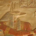 Bas relief of Anubis, temple of Seti I