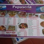 I took this picture of the menu to show the great prices. The prices are in Belizean dollars so