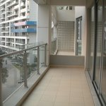 our front balcony before we got any furniture
