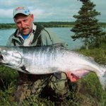 Mike morrison with a 55 pound king salmon