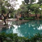 La piscine vue de la chambre Deluxe