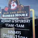 Front door signage Joe Beeverz Bar & Grill     20 - 1300 18th Street, Brandon, Manitoba