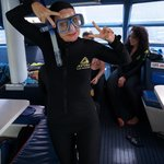 Suited up and ready to snorkel