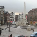 View of Dam Square from room