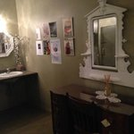 Ladies bathroom!  So nicely decorated! Lady of the Lake Cafe & Pub  |  135 17th St N, Brandon, M