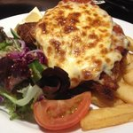 Chicken Schnitzel w/ thick cut chips $12.00