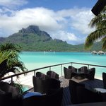 View of the lagoon and Mt. Otemanu from the hotel bar