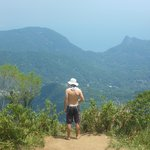 From pico da tijuca looking over the park and city