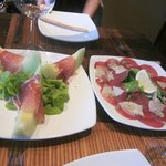 Rock Melon with Parma Ham & Beef Carpaccio