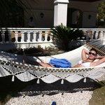 Hammock by the pool