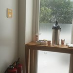 Tea and Coffee corner, at the corridor served only in morning :(