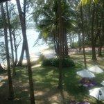 zicht op de laguna vanuit het terras van mijn kamer