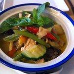 Pollo curry verde