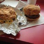 cheeseburger and bacon burger