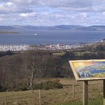 Kelburn Castle viewpoint over to Largs Marina