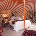 Cosy in all weathers inside the yurt