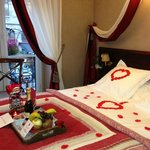 Our room with romance package upon arrival