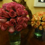Vases of roses