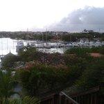 Uitzicht over het haventje.