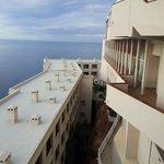 Hotellet var byggt i olika nivåer.