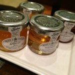 nice selection of jams and honey (breakfast buffet)
