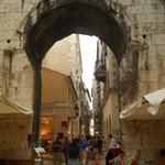 Diocletian's palace- narrow street, gate