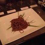 Noodle salad with crunchy dried shrimp