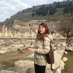 Our guide, Zeynup, at the ancient city of Ephesus