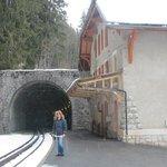train station (5-7 minutes walk)