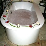 bath tub with wedding deco ...