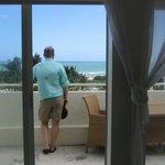 large ocean front balcony