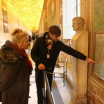 Max guiding in the Vatican Museum