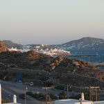 View to Mykonos town from our balcony