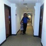 Corridor between the rooms