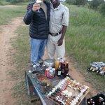 Pause apéritive en safari!