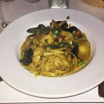 Seafood curry pasta...a GREAT dish