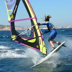 windsurfing action