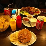 Quarter pounder and kebab plate