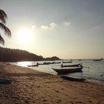 coucher de soleil plage de Mae Haad