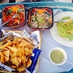 Our favorite: ceviche and guac. FABULOUS!!! So fresh and delicious.