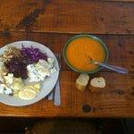 soupe carotte, choux rouge, taboulé, betteraves, endives