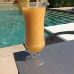 Delicious drinks by  the pool