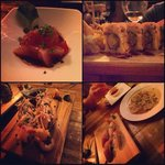Spicy sesame tuna, Redsnapper Carpaccio