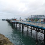 The closed pier at Llandudno.